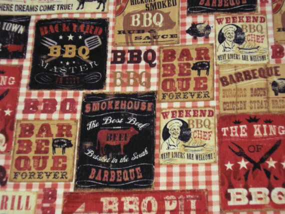 Padded Table Runner - Backyard BBQ - Roadhouse Grill - Perfect for Outdoor Grilling & BBQ's