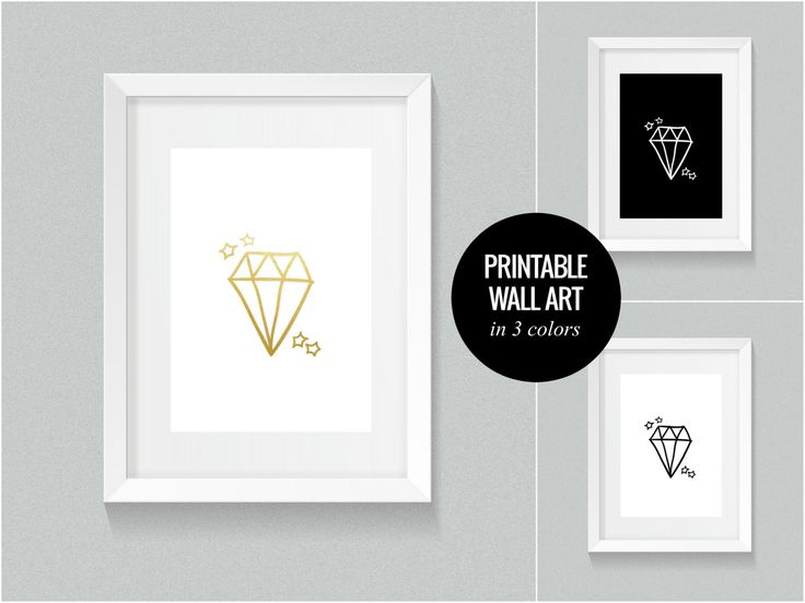 DIAMOND printable poster in 3 colors by LucieSindelkova on Etsy