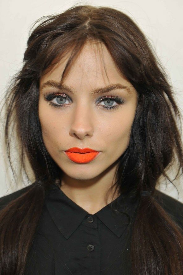 Neon lipstick.  Glitter eyes.