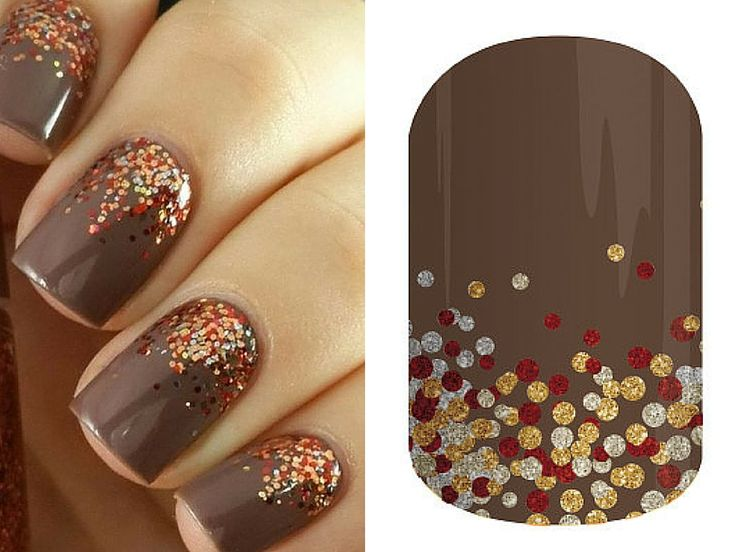 """This crisp autumn look can easily be hacked using Jamberry's """"Apple Cider"""" wrap from the Fall 2015 Catalog."""