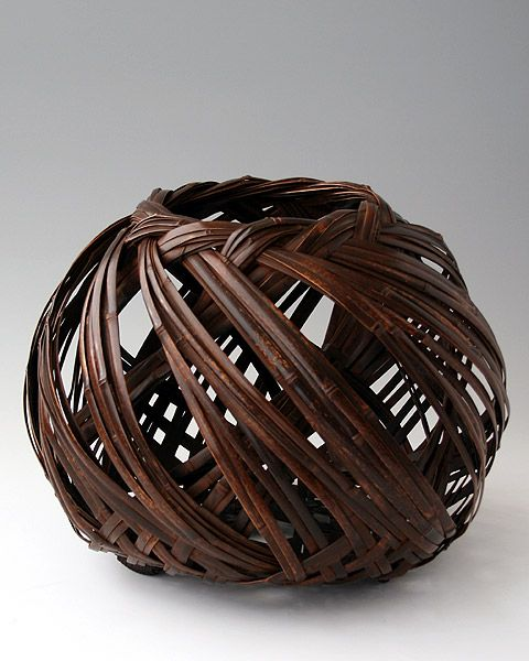 Uematsu Chikuyu (1947- ), The Sound of Wind - BambooTokyo.com - Japanese Bamboo Basket -