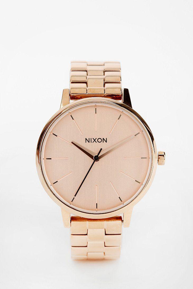Nixon Kensington Rose Gold Watch | urban outfitters