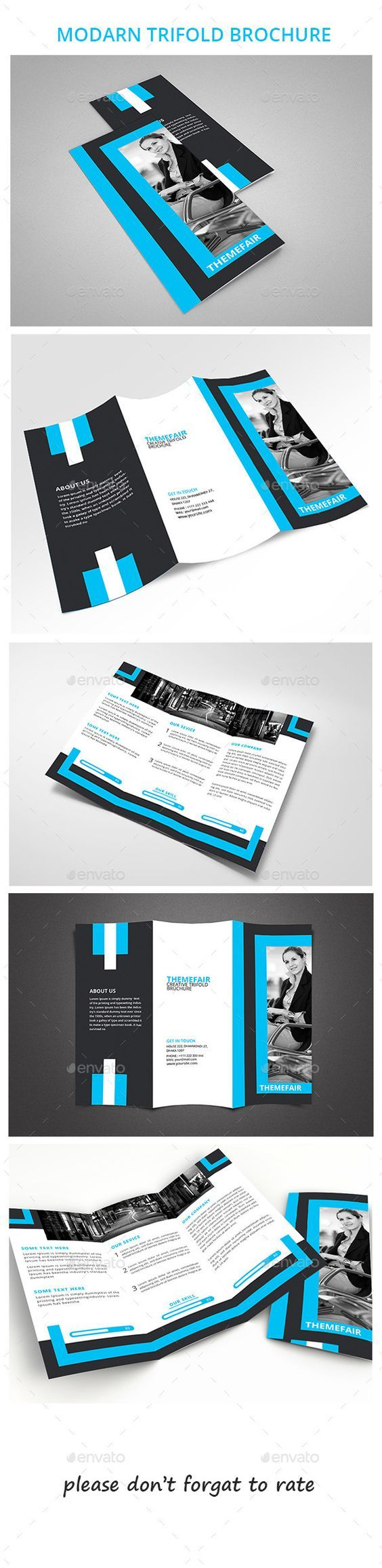 A Modern Tri Fold Brochure, With Plenty Of Room To Thoroughly Describe The  Company