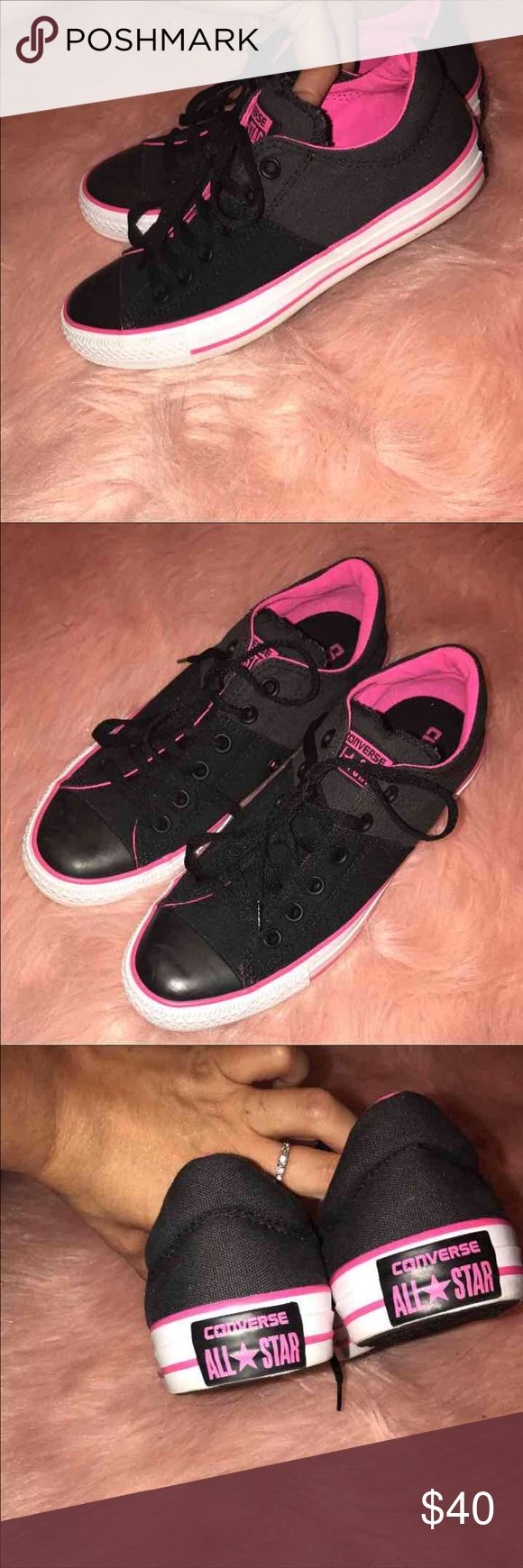 Women's Converse size 8 These are basically new! No scuffs or marks or anything! Super cute! Converse Shoes Sneakers