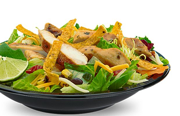 When McDonald's looks like your only option at the airport, go for the Southwest Salad with Grilled Chicken. (Hold the dressing to save 100 calories.)