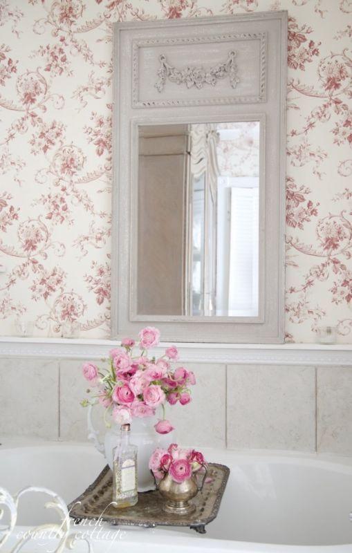 22 Floral Bathroom Designs Decorating Ideas: Mirror, Mirror On The Wall