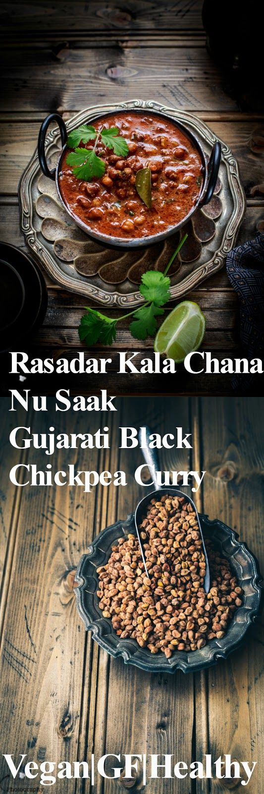 Jagruti's Cooking Odyssey: Rasadar Kala Chana Nu Saak - Gujarati Black Chickpea Curry