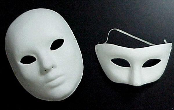 Máscara de Papel Machê 1 Como fazer máscara de papel machê