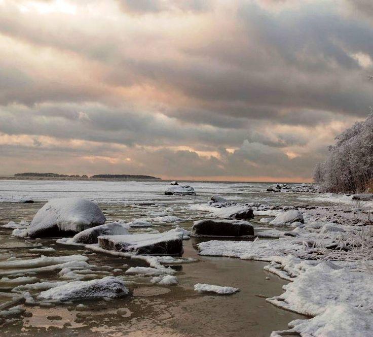 The winter splendour of the Baltic near Pori, Finland