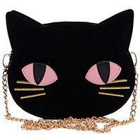 skinnydip スキニーディップ ロンドン 可愛すぎる クロネコ さん ショルダー バッグ クロス ボディ チェーン バック かわいい 猫 黒猫 ユニーク 海外 ブランド