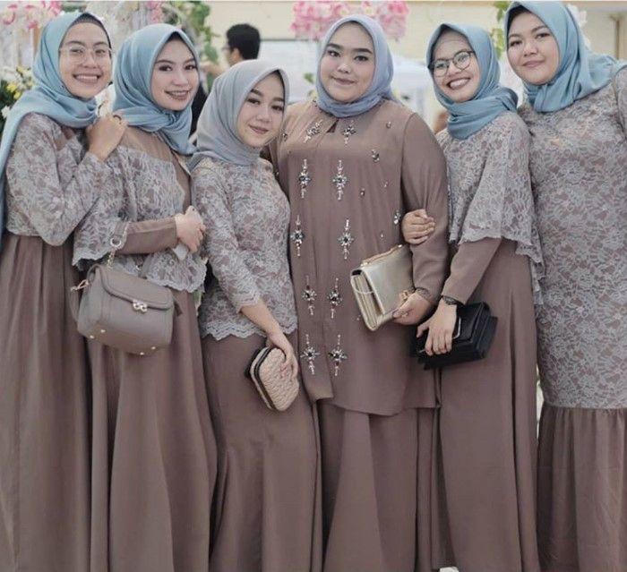 100 Inspirasi Model Baju Gamis Brokat Terbaru 2019 Kekinian Dan Modern Wikipie Co Id Casual Hijab Outfit Wanita Perlengkapan Hijab