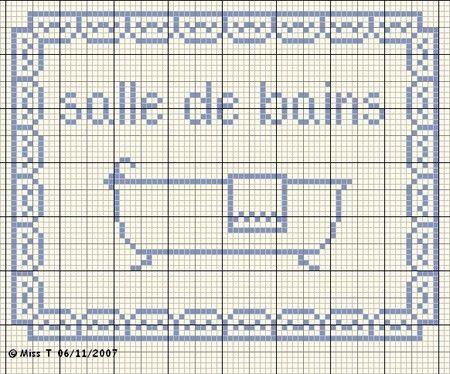 salle de bains - bathroom - panneau - point de croix-cross stitch - broderie-embroidery- Blog : http://broderiemimie44.canalblog.com/
