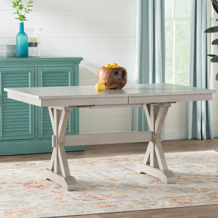 Rutledge Rubberwood Solid Wood Dining Table In 2020 Solid Wood Dining Table Wood Dining Table Extendable Dining Table