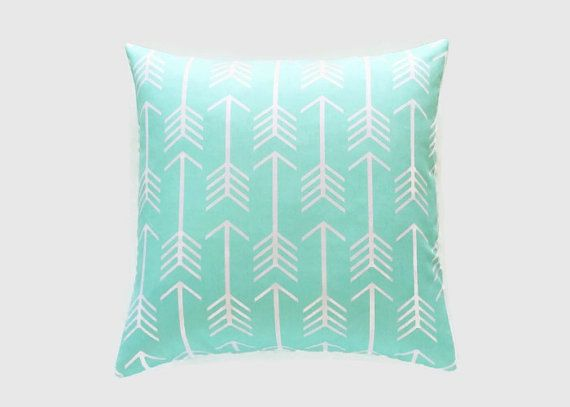 clearance 50 off mint green arrows throw pillow cover 24x24 cushion cover decorative pillows