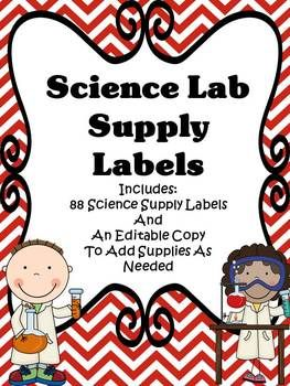 Labels - Science Lab Supply LabelsThese labels will be a great tool to help you organize the science lab.  There are 88 supply labels included.  I have also included an editable PowerPoint copy for you to add additional supplies as needed.  An organized science lab will help you prepare for engaging lessons.