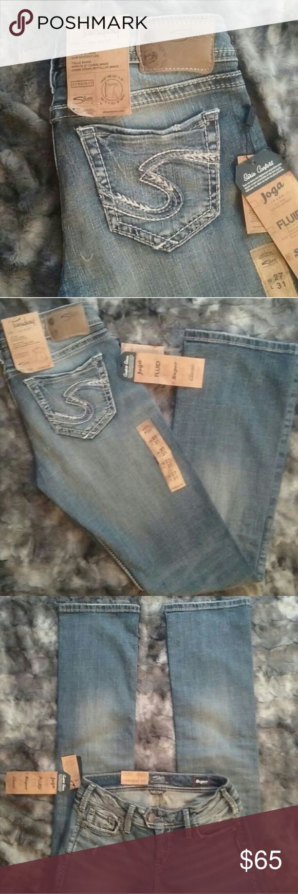 Silver jeans Tuesday Style many more to add! Bundle to save! 1 for 65 or 2 for 110 brand new off the racks. Newest styles ordered in bulk to get you... My posh friends a huge discount off retail prices Size 28/31 Silver  brand Tuesday Style Super stretchy comfortable denim Great for everyday wear... Dress them up for career wear or throw on a t shirt for your everyday errands! Your go to jeans! Silver Jeans Jeans Boot Cut