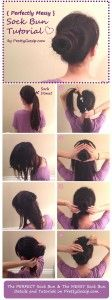 Messy Sock Bun Tutorial by PrettyGossip