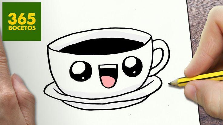 COMO DIBUJAR CAFE KAWAII PASO A PASO - Dibujos kawaii faciles - How to d...