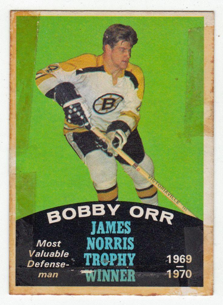 Bobby Orr James Norris Trophy # 248 A - 1970-71 O-Pee-Chee Hockey