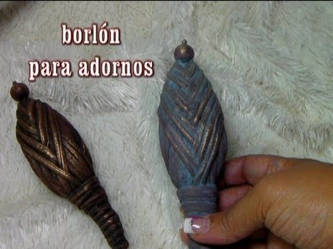 DIY BORLÓN DE ADORNO PARA BOTELLAS Y MAS (+lista de reproducción)