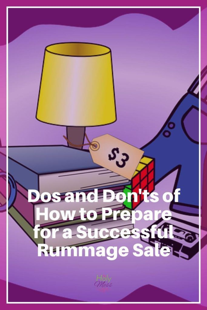 If you are preparing to host a rummage sale or garage sale, this is a must read article! Tips from a family who does rummage sales professionally. Dos and Don'ts for How to Prepare for a Successful Rummage Sale|The Holy Mess