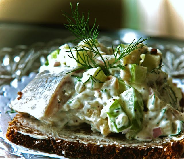 skagen sild danish herring smorrebrod
