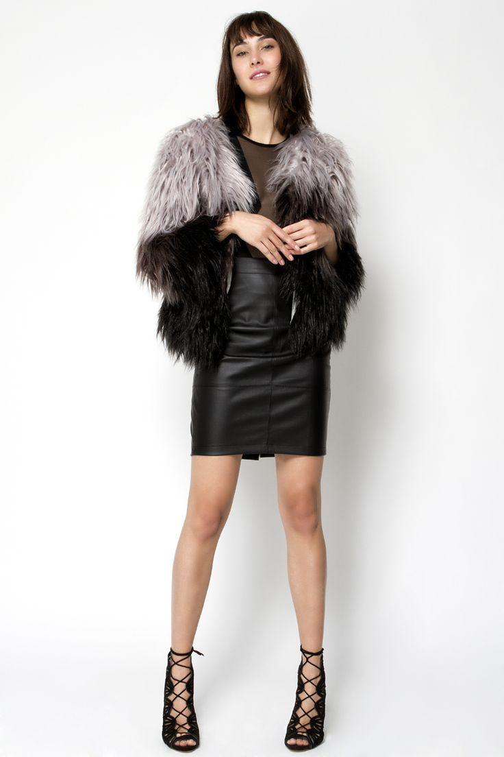 Leather Look Φούστα - ΡΟΥΧΑ -> Φούστες & Shorts   Made of Grace