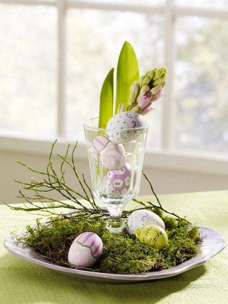 Húsvéti dekoráció, pohárban
