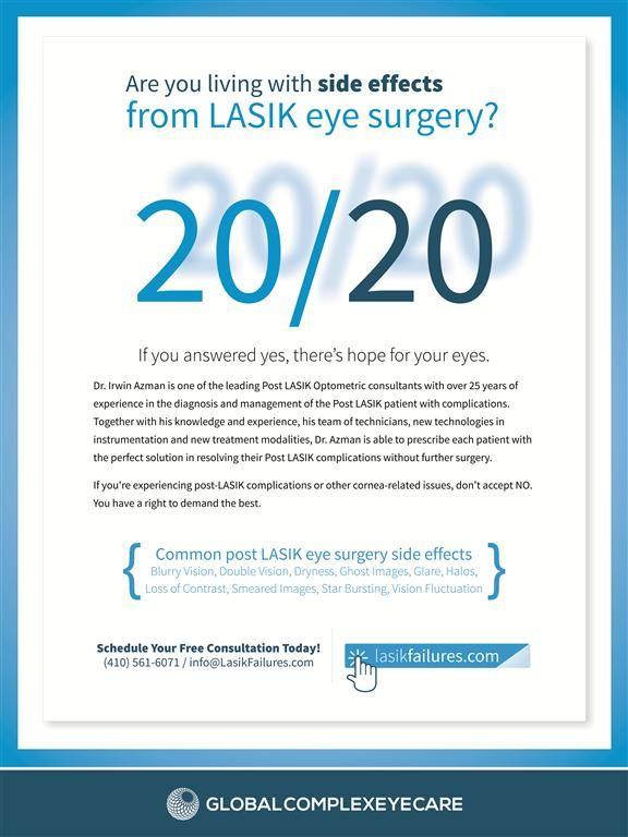 Treatment for Post LASIK Side Effects! #lasik #lasikcomplications #dryeye #glare