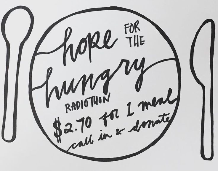 2015 Hope for the Hungry Radiothon. It costs just $2.70 to provide a meal and care for someone in need.