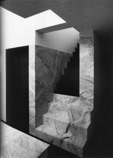 Staircase inside Casa Avelino Duarte by Álvaro Siza.