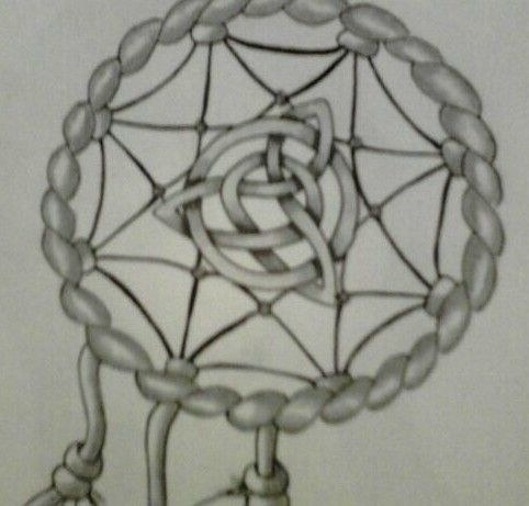 celtic knot dream catcher tattoo design by