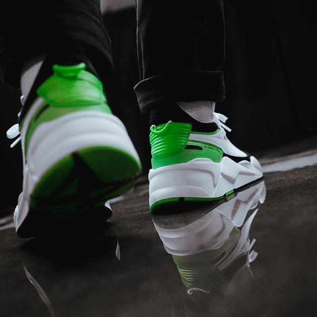 Puma RS X Reinvention Herren Frauenschuh grün weiß