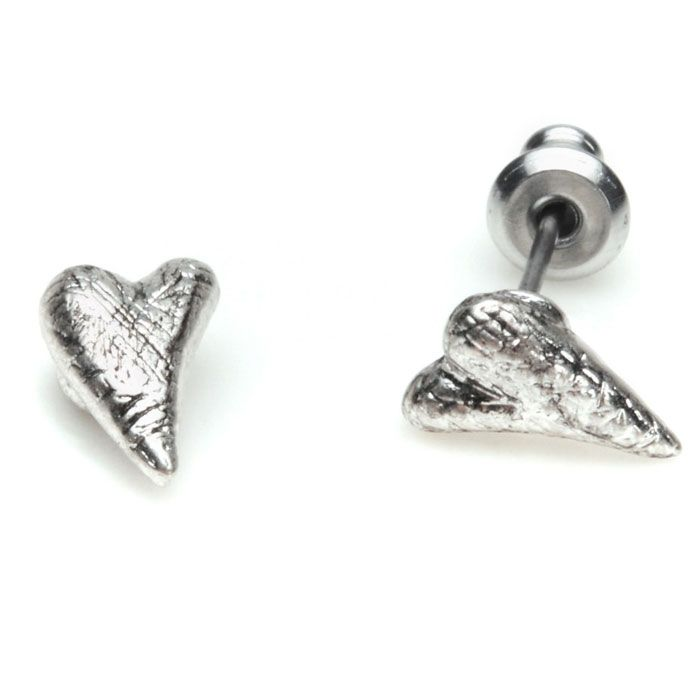 Cute yet stylish this pair of Pilgrim Classics Silver Plated Heart Stud Earrings have a beautifully unique textured surface.