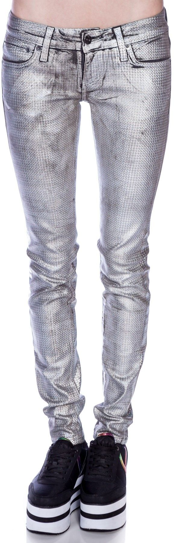 Kill City Junkie Pyramid Holographic Foil Pants | Dolls Kill