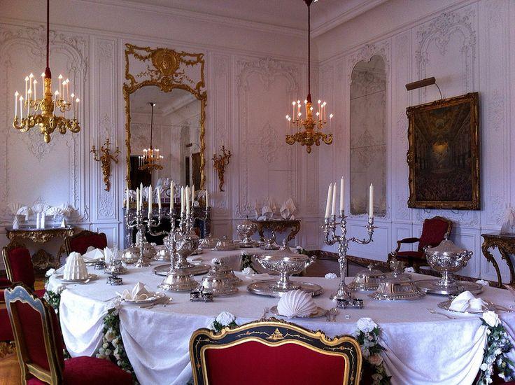 Esszimmer, Französisch Interieurs, Haus Innenräume, Englisch Herrenhäuser,  Herrenhäuser, Französisch Stil, Englisch Stil, Gedecke, Hochzeitsorte