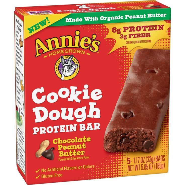 Annies chocolate peanut butter cookie dough protein bar