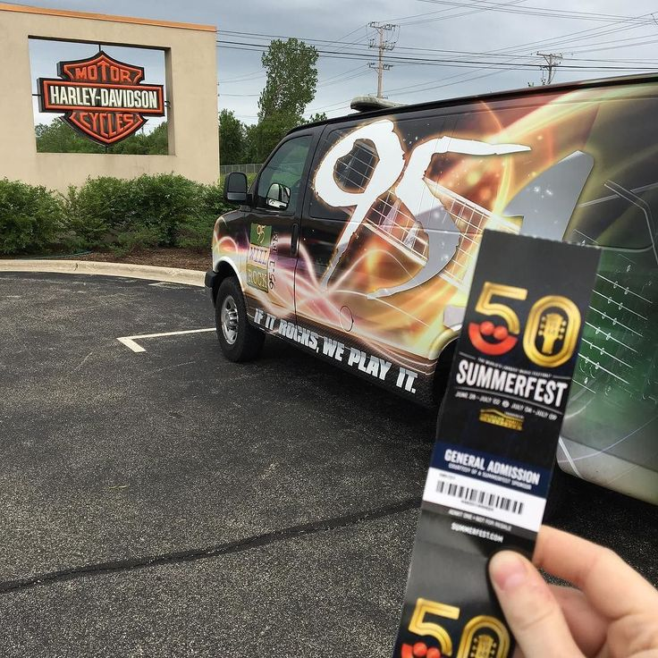 TICKET STOP!! Every ten minutes we draw for #summerfest tickets at Lake Shore Harley now til 7!!