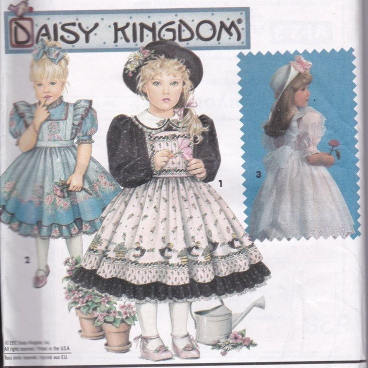 Sewing Patterns Girl's Party Dress Full Skirt Daisy Kingdom Simplicity 7699 Size 5 - 6x by SuesUpcyclednVintage on Etsy