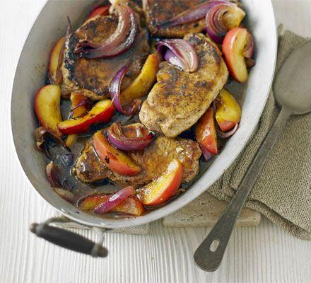 Fruity pork steaks