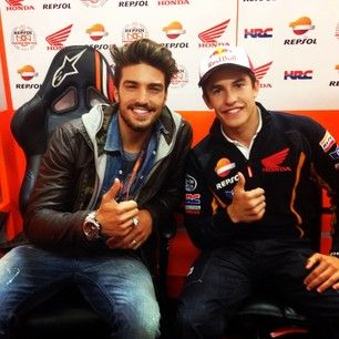 #marianodivaio at #assen #motogp with #gasjeans crew for #gasgoesfast digital project, here with #marcmarquez...more at http://live.gasjeans.com/