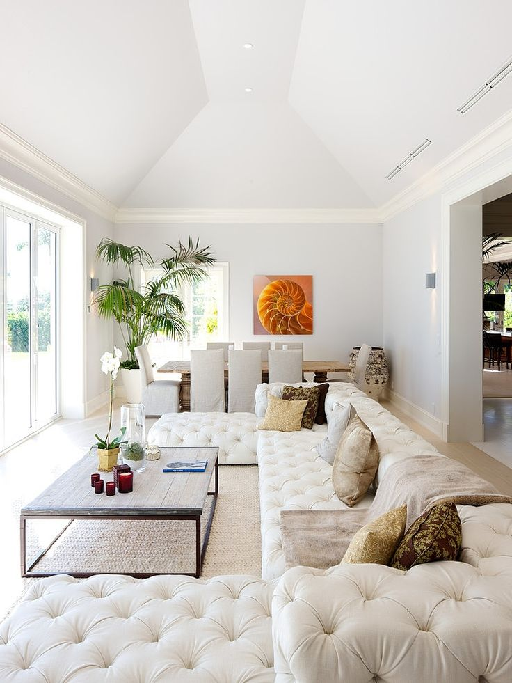 Perfect layout for large living room...just add TV ;) Indian Creek Island Residence by Bart Reines Construction