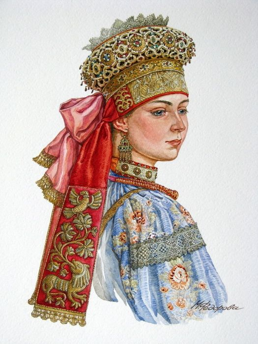 Просмотреть иллюстрацию Красна девица из сообщества русскоязычных художников автора Марина Федорова в стилях: Реализм, нарисованная техниками: Акварель.