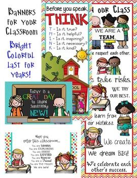 FREE!!!  If you are a fan of MELONHEADZ (like me) you will love this classroom decor set. This set includes the following: * Student Binder cover and Teacher Binder cover  * Stationary and Thank You cards * How We Go Home - clip chart * Behavior Clip Chart * Today is a GREAT DAY to learn something new! (Medium Banner) * Before you speak, T –H-I-N-K (Large Banner) * In our class . . . (X– Large Banner)