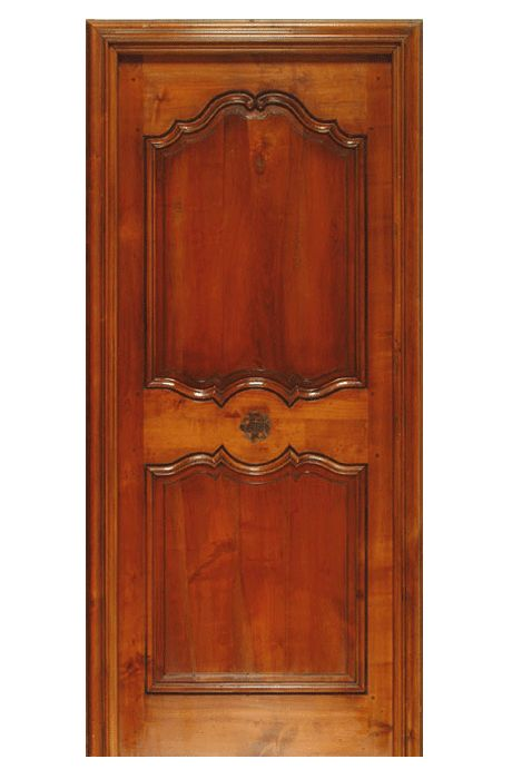 Porte modèle Tibériade. Modèle présenté en Merisier de France