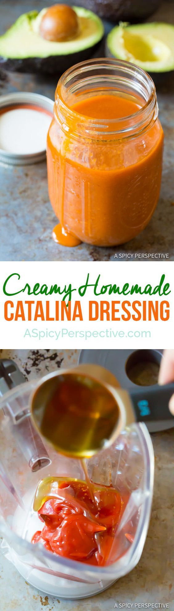 3* Homemade Catalina Dressing | ASpicyPerspective.com. Good if you like Catalina, had almost too much tang for me. Did like the flavor with the Dorito taco salad though