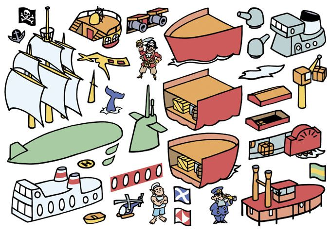 Elements for children's puzzle.