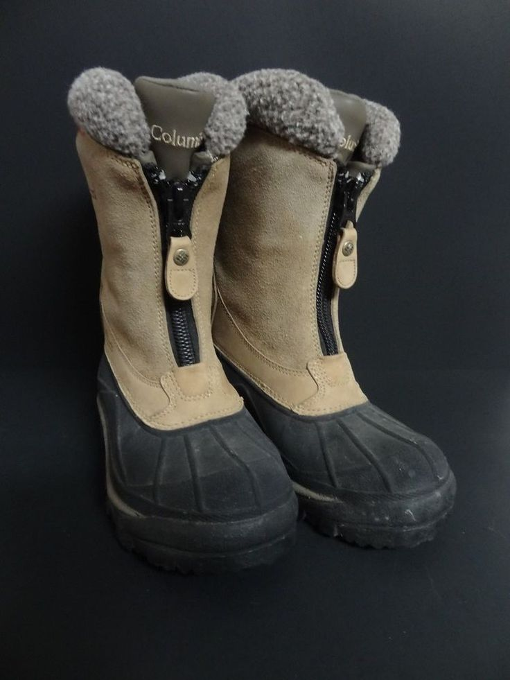 Womens Columbia Winter Snow Boots Size 6 Thermolite Tan & black & gray #Columbia #winterboots