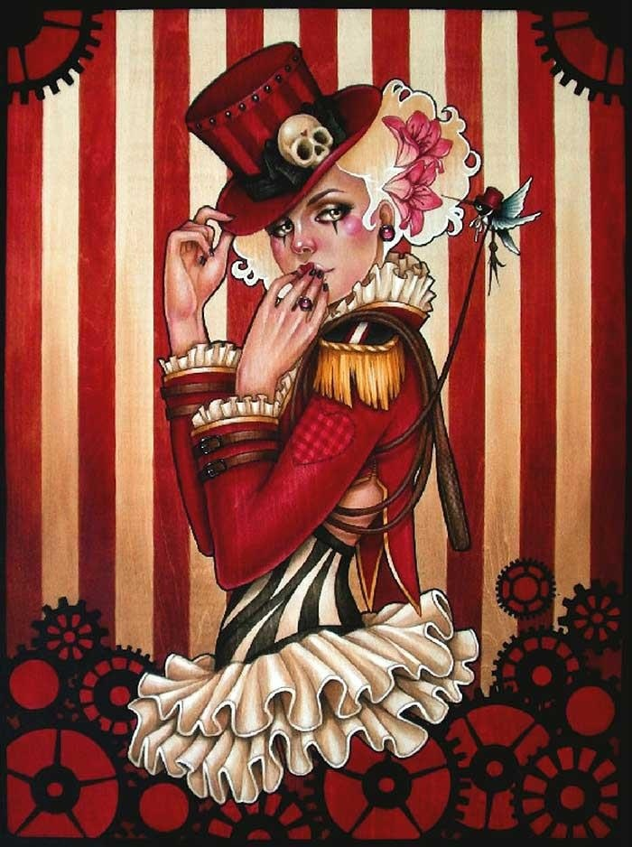 Carnival Circus Girls Art Poster Girl Art Print by ... |Circus Girl Art Print