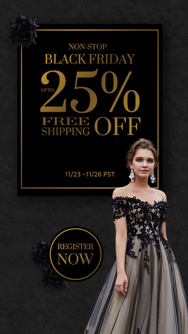 Cocomelody Black Friday Banner Dresses Wedding Dresses Wedding Gowns